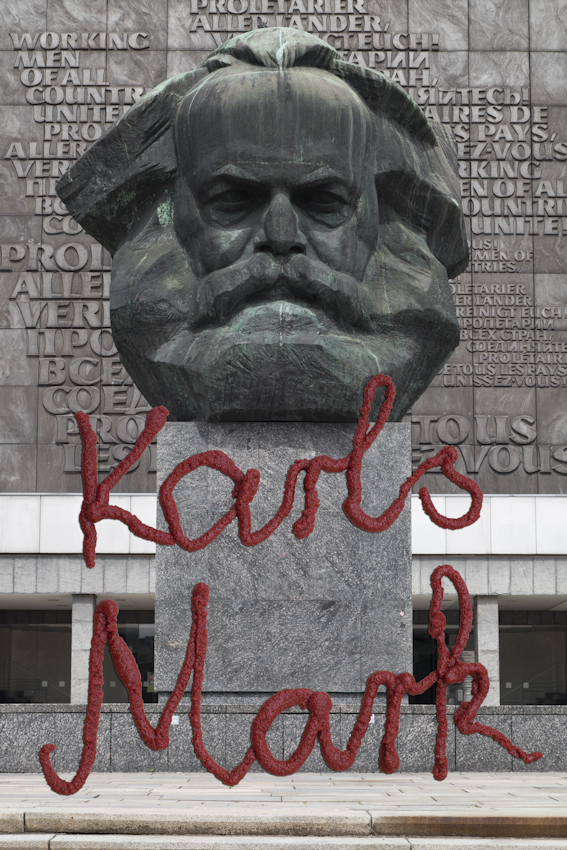 Fotocollage Karl Marx - Karls Mark - BENEDIX